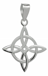 Silver Celtic Good Luck Pendant