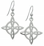 Silver Celtic Good Luck Earrings