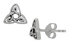 Silver Trinity Knot Petite Studs Earrings