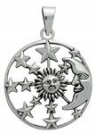 Silver Sun, Moon & Stars Pendant for Hope