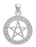 Brilliant Silver Pentagram for Success