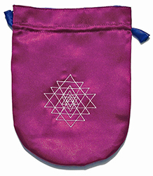 Purple Satin Shri Yantra Tarot Bag