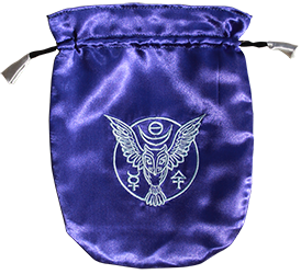 Blue Satin Owl Tarot Bag