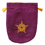 Purple Satin Celtic Pentagram Tarot Bag