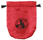 Red Satin Black Cat Tarot Bag