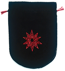Black Velvet Double Pentagram Tarot Bag