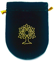 Green Velvet Tree of Life Tarot Bag