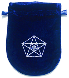 Blue Velvet Triple Pentagram Tarot Bag
