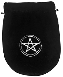 Black Velvet Pentagram Tarot Bag
