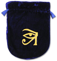 Blue Velvet Eye of Horus Tarot Bag