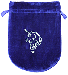 Blue Velvet Unicorn Tarot Bag