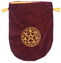 Burgundy Velvet Sigilum Circle Tarot Bag
