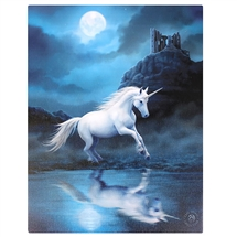 Moonlight Unicorn Canvas Print By Anne Stokes