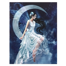 Frost Moon Fairy Canvas Art Print by Nene Thomas