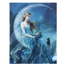 Wind Moon Fairy Canvas Art Print by Nene Thomas
