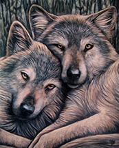 Loyal Companions Canvas Art Print by Lisa Parker