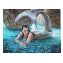 Hidden Depths Mermaid Canvas Art Print by Anne Stokes