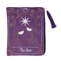 The Star Purple Velvet Zippered Tarot Card Bag