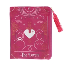 The Lovers Pink Velvet Zippered Tarot Card Bag