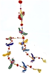 Hanging String Bird Peacock Latkans - pair - made available by Celebrate Festival Inc