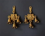 Pure Brass Lakshmi Ganesha Hanging Bell hand made - made available by Celebrate Festival Inc