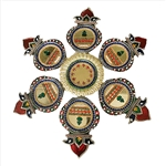 Very Elegant Looking Acrylic Rangoli : Floor/Wall/Table Rangoli Decorative Showpiece (Embellished with Stones)