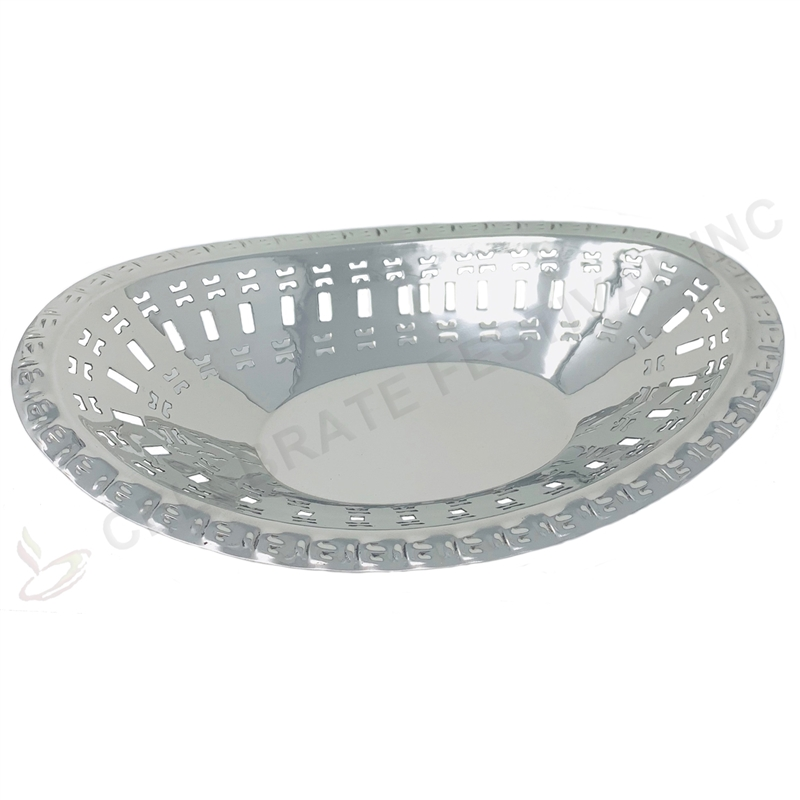 Stainless Steel Bread Basket- Medium - By Celebrate festival Inc