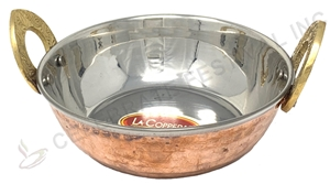 Copper/Stainless Steel Kadai - 32 Oz - By Celebrate Festival Inc