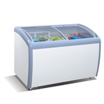 MMF-9109 Angle Curved Top Chest Freezer (Glass Arc Lid) by Atosa - made available by Celebrate Festival Inc