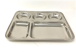 Stainless steel 5 compartment rectangular