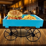 Appetizer Serving Elegant/ Stylish Wooden Trolley - by Celebrate Festival Inc