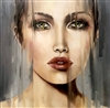 "Janesko Original Oil Painting on canvas, ""Looking Glass"""