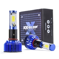 60 WATT LED HEADLIGHT ERROR-FREE CONVERSION KIT W/TINTED SLEEVES