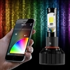 2 IN 1 LED HEADLIGHT BULB KIT - XKchrome SMARTPHONE APP-ENABLED