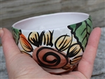 Pottery - Majolica Small Bowl - Sunflower