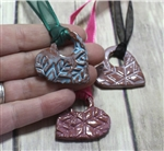 Pottery - Necklace - Snowflake Heart