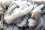 "CVM Romeldale Roving - ""Appletini"" - Light Grey  - 2 oz bundle"