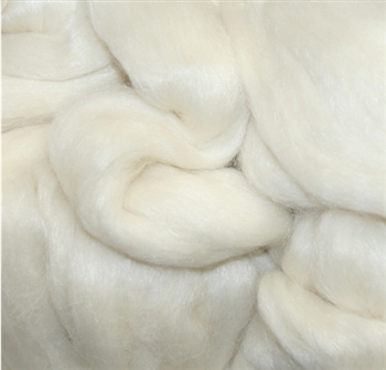 Alpaca Silk - White (by the ounce)