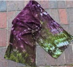 Silky Wool Scarf - Handdyed (Crushdye) - Rocky Mountain High