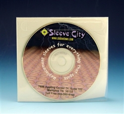 Tamper Resistant CD/DVD Adhesive Sleeve with Safety Lining (100 Pack)