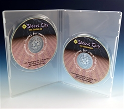 2 disc dvd case clear