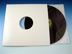 white die cut lp jacket with center hole sample