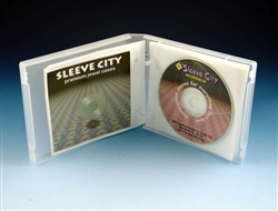 "Univenture UniKeepâ""¢ 10 CD, DVD Case Clear and Black - Clear"