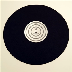 Anti-Static Turntable Mat with Strobe Pattern (60 Hz)