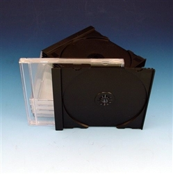 Single Premium CD Jewel Case Black Tray Unassembled SAMPLE