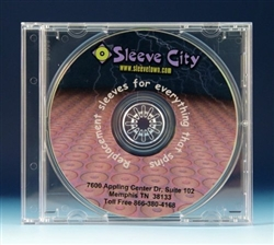 Single Premium CD Jewel Case Clear Tray Assembled  SAMPLE