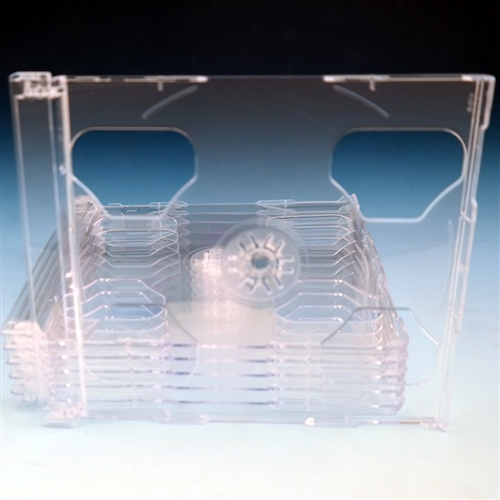 50 DOUBLE CD SMART TRAYS WITH 2 DISCS PRINTS,CLEAR YL29LOGO