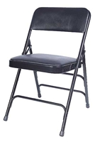 Black Vinyl Padded Metal Folding Chairs, Wholesale folding metal chairs, quality folding metal chairs