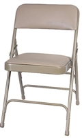 Free shipping  Beigen Vinyl  Folding Chairs