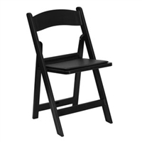 Discount Prices Black Resin Folding Chair
